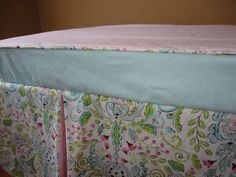 love birds crib bedding   Bumperless Love Birds Peek a Boo Crib Bedding by SorenByAngelique, $ ...