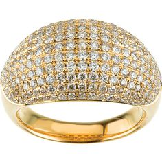 Custom Diamond Dome Ring 14k Yellow Gold 1.75 CT TW by SugaredJewels on Etsy