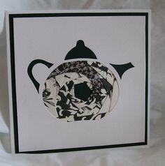 Iris Folded Teapot Card.