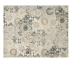 Talia Printed Rug - Gray - this rug under the chesterfield sofas in front of the fireplace