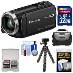 Kit includes:♦ 1) Panasonic HC-V180 HD Video Camera Camcorder♦ 2) Transcend 32GB SecureDigital (SDHC) 300x UHS-1 Class 10 Memory Card♦ 3) Precision Design PD-C15 Digital Camera/Camcorder Case♦...