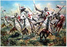 Templar Knights Charging !