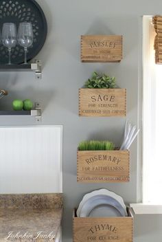 love these diy rustic herb crates at www.junkinjunky.blogspot.com