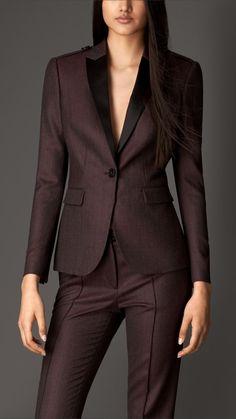 Virgin Wool Tailored Jacket   Burberry