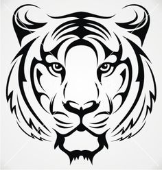 Great Simple Tiger Face Drawing 30 380×400 Képpont