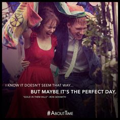 About Time… what a great film!