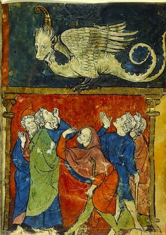 Brazen Serpent. France 1277-1286. Hebrew. Add.11639. BL by tony harrison, via Flickr