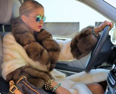 Mink and sable fur coat