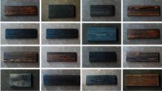 La technique du bois brûlé ou Shou Sugi Ban - Différents effets de finitions
