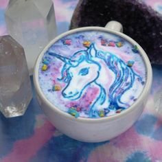 Wow! My 2 loves Unicorns & coffee