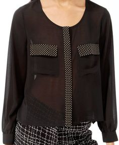 Sheer Studded Button Up | $19.80