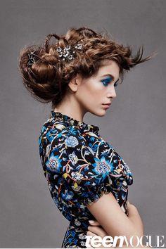 Дочь Синди Кроуфорд (Cindy Crawford) Кайя Гербер (Kaia Gerber) украсила фотосессию в Teen Vogue