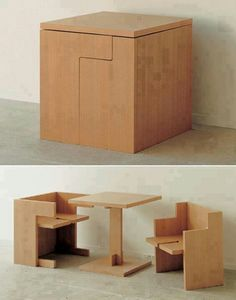 Boxed table