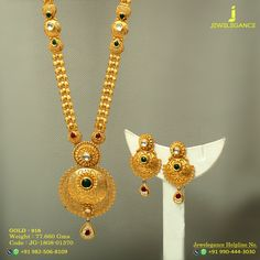 Gold 916 Premium Design Get in touch with us on Gold Temple Jewellery, Gold Jewelry, Gold Necklace, Jewelry Art, Gold Bangles Design, Gold Jewellery Design, Gold Mangalsutra Designs, Gold Chain With Pendant, Necklace Designs