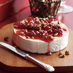 Top-Rated Holiday Appetizers | Cherry-Pecan Brie | SouthernLiving.com