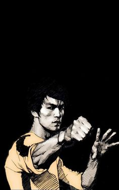 Download Bruce Lee Punch iPhone 6 Plus HD Wallpaper