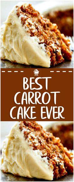 Best Carrot Cake Ever – Home Family Recipes Carrot Cake Bundt, Healthy Carrot Cakes, Carrot Cake Cookies, Healthy Cake Recipes, Best Cake Recipes, Cupcake Cookies, Carrot Cake Recipes, Sweet Recipes, Best Carrot Cupcake Recipe