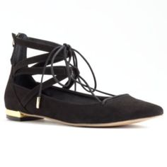 Rock & Republic Women's Pointed Lace-Up Flats ($42)