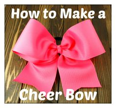 1000+ images about Cheer Bows & Cheer DIY Projects on ...