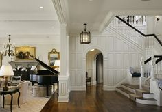 Beautiful entry with raised paneling : Mark P Finlay interior