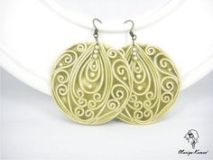 earrings by mariyakamen...these are polymer clay....gives me idea for quilled earrings