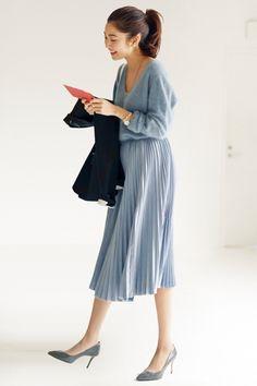 今年はさらに人気が加速中♡ : 去年との違いはココ!流行プリーツスカートの今風な着こなし方 - NAVER まとめ