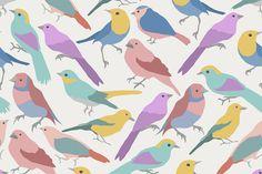 Beautiful vector birds by Julia Dreams