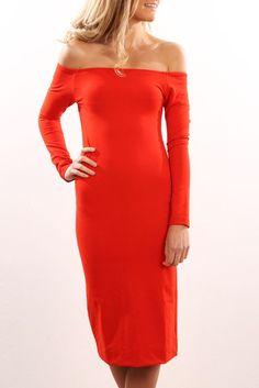 Fiona Dress Blood Orange