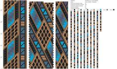 Peyote Beading Patterns, Loom Bracelet Patterns, Peyote Stitch Patterns, Bead Loom Patterns, Loom Beading, Jewelry Patterns, Beaded Jewelry, Beaded Bracelets, Tapestry Crochet Patterns