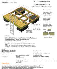You can buy a Swim Raft Floating Dock Plan x with Great Northern Docks online today. Swim Raft Floating Dock Plan for Dock Builders x Floating Dock, Floating House, Lake Dock, Lakefront Property, Lake Cabins, Diy Deck, Building A Deck, River House, Boat Plans