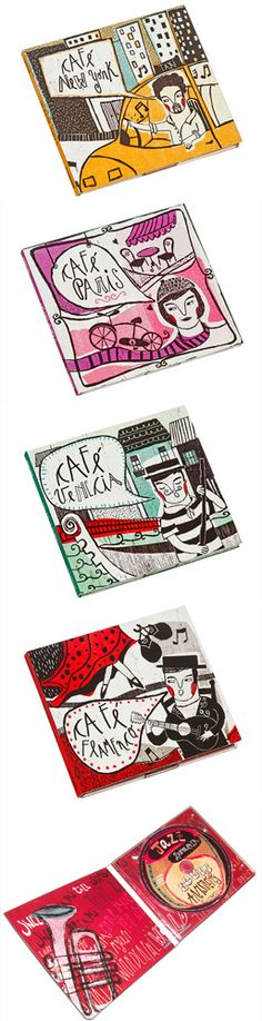 Macarena López: cute illustrated CD #packaging PD..