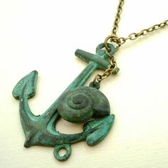Pinny pin pin...Vintage Style Anchor Necklace from Hart and Bloom on notonthehighstreet.com