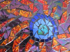 a close up abstract mosaic by kat gottke