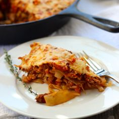 Stuffed Cabbage Casserole - a cabbage lasagna! Like cabbage rolls, without all the work! Delicious, healthy & nutritious!