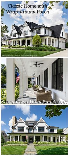 Classic Home with Wrap-around Porch Classic Home with Wrap-around Porch Classic Home with Wrap-around Porch Countertop Backsplash, Door Paint Colors, Modern Farmhouse, French Farmhouse, Country Farmhouse, French Country, Visual Comfort, California Homes, Painted Doors