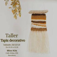 """106 Me gusta, 17 comentarios - Edurne (@artilez_tejiendo_emociones) en Instagram: """"~ TALLER TAPIZ DECORATIVO ~  26/10/19 de 10:15 a 13:30  Cómo decía Macario 🥴  pero que contenta…"""" Instagram, Tapestries, Weaving Looms, Atelier, Tejidos"""