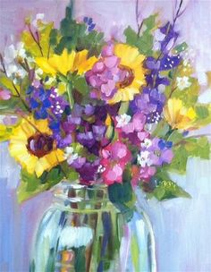 """Flower Explosion"" - Original Fine Art for Sale - © Libby Anderson"