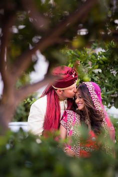 Nishita Pawar & Michael Cummings Photography: Lin & Jirsa Photography Read More: http://www.insideweddings.com/weddings/vibrant-indian-wedding-ceremony-modern-rooftop-reception/750/