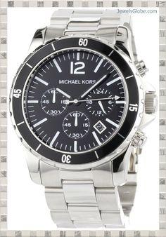michael kors quartz silver dial men s watch mk5535 watches michael kors mens watches silver black madison