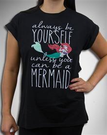 Ariel Be a Mermaid Cuff Sleeve Junior Fitted Tee