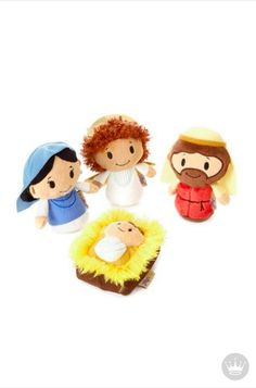 Little hands will be so excited to set up this pocket-sized Nativity set, featuring a plush angel, Mary, Joseph and Baby Jesus. This is the perfect stuffed animal gift to start your little ones collection this Christmas.