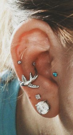 Cute Ear Piercing Ideas - Conch Piercing Hoop - Tragus Piercing Jewelry at MyBodiArt.com