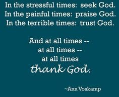 Very insightful book. Turning pain into thanks. Seeing God in all moments. Being thankful for all situations, all moments. Taught me to create gratitude lists...ppl who do, have less stress and are in general, happier...focusing on the good and pushing aside the bad. #1000gifts #AnnVoskamp