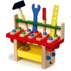 Wooden Toys - Toy Tool box, Toy Tool Bench, Toy Tools in Toys & Games, Pre-School & Young Children, Wooden Toys Small Workbench, Tool Bench, Xmas Stockings, Developmental Toys, Montessori Toys, Wood Toys, Toy Boxes, Cool Tools, Dremel