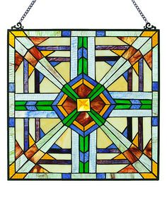 Love this Southwest Mission-Style Stained Glass Window Panel on #zulily! #zulilyfinds