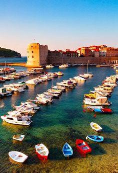 Docked in Dubrovnik, Croatia.
