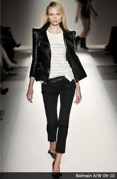 jaqueta de couro balmain
