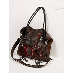 Canyonland Tote (5.735 RUB) via Polyvore featuring bags, handbags, tote bags, tote purses, woven leather tote bag, fringe tote, woven tote bags и fringe leather handbags
