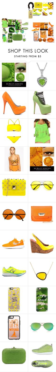 """Guardian Angels Swim Wear"" by sarenityalexis ❤ liked on Polyvore featuring Miadora, Veda Soul, Versace, ASOS, Essie, Hervê Guyel, Neiman Marcus, Sam Edelman, New Balance and Christina Debs"