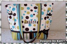 Designs by Keri Spiro Dots Boutique Duffle by designsbykeri4u, $75.99